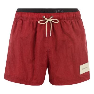 Pantaloni scurti inot Calvin Klein Waistband Patch rosu