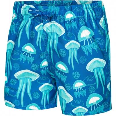 Pantaloni scurti inot For Aqua-Speed FINN Jellyfish albastru baiat