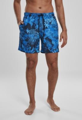 Pantaloni scurti inot Pattern albastru-floral Urban Classics