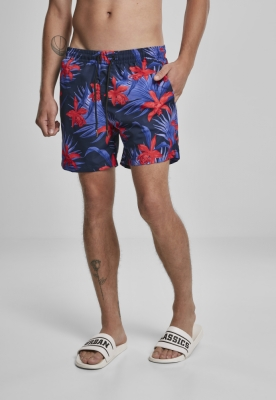 Pantaloni scurti inot Pattern albastru-rosu Urban Classics