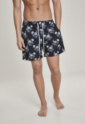 Pantaloni scurti inot Pattern negru-roz Urban Classics