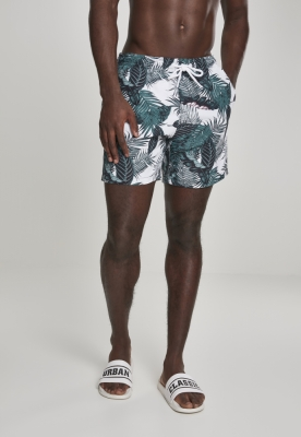 Pantaloni scurti inot Pattern verde Urban Classics leaves