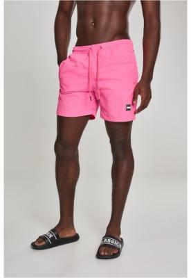 Pantaloni scurti inot roz-neon Urban Classics