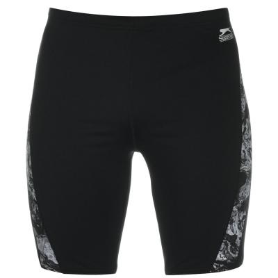 Pantaloni scurti inot Slazenger Curve Panel pentru Barbati negru gri