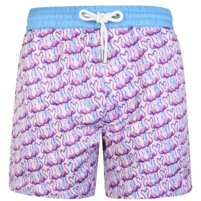 Pantaloni scurti inot THOMAS ROYALL Flamingo roz