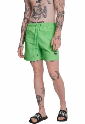 Pantaloni scurti inot verde-neon Urban Classics