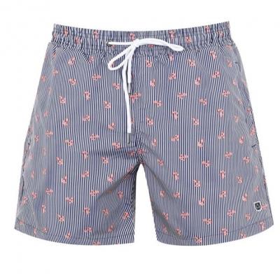 Pantaloni scurti inot Verte Vallee Print roz anchors