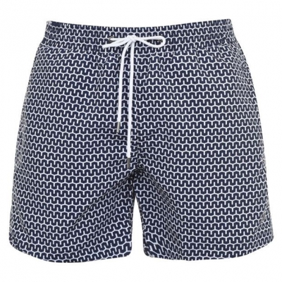 Pantaloni scurti inot Verte Vallee Print bleu cabanes
