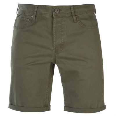 Pantaloni scurti Jack and Jones Jeans Intelligence Rick oliv night