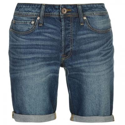 Pantaloni scurti Jack and Jones JI Denim pentru Barbati inchis wash