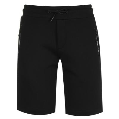 Pantaloni scurti KARL LAGERFELD cu fermoar Logo negru 09b