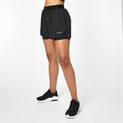 Pantaloni scurti Karrimor 2 in 1 pentru Femei negru