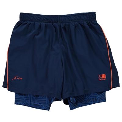 Pantaloni scurti Karrimor X 2 in 1 pentru baietei bleumarin albastru