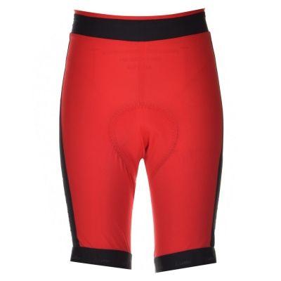 Pantaloni scurti Loffler Hose HOT BOX ciclism pentru Femei rosu