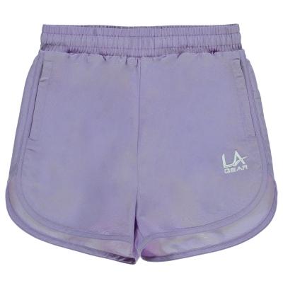 Pantaloni scurti LA Gear Woven pentru fetite mov