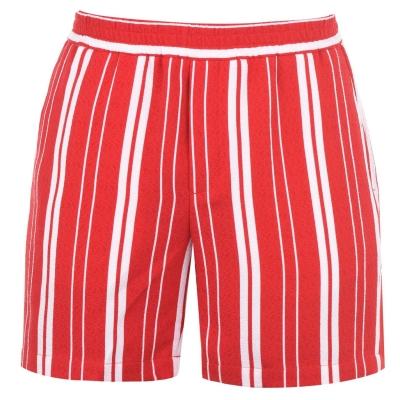 Pantaloni scurti Libertine Libertine cu dungi off alb rosu