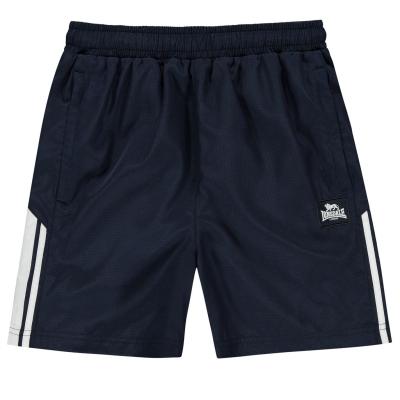 Pantaloni scurti Lonsdale 2 cu dungi Woven pentru baietei bleumarin