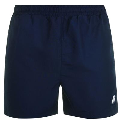 Pantaloni scurti Lonsdale 2 cu dungi Woven pentru Barbati bleumarin alb