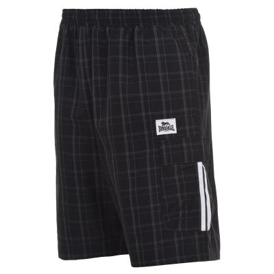 Pantaloni scurti Lonsdale Check pentru Barbati negru