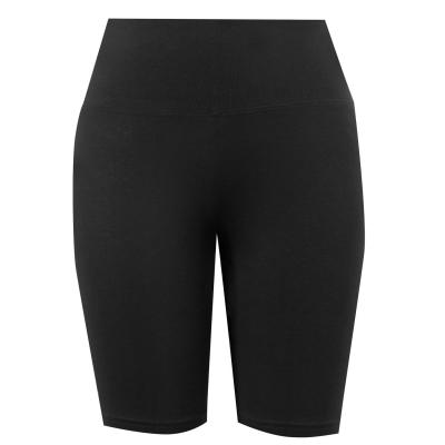 Pantaloni scurti Miso cu talie inalta ciclism pentru Femei negru