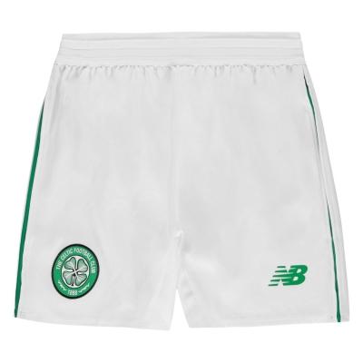 Pantaloni scurti New Balance Celtic pentru copii alb