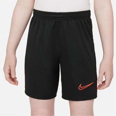 Pantaloni scurti Nike Academy pentru baietei negru rosu inchis