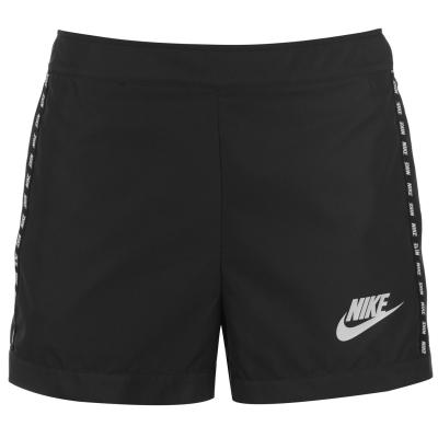 Pantaloni scurti Nike AV15 Woven pentru Femei negru alb