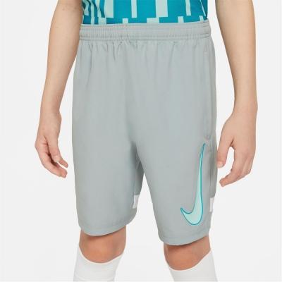 Pantaloni scurti Nike Dri-FIT Academy Big imprimeu Graphic Soccer pentru Copii deschis pumice