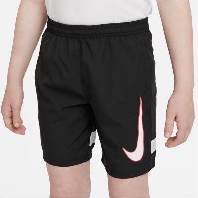 Pantaloni scurti Nike Dri-FIT Academy Big imprimeu Graphic Soccer pentru Copii negru rosu