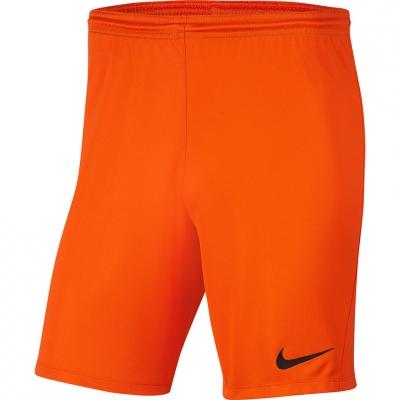 Pantaloni scurti Nike Dry Park III NB K portocaliu barbati BV6855 819