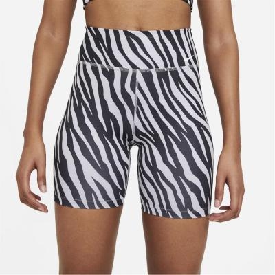 Pantaloni scurti Nike One 7 AOP Icon pentru Femei mov