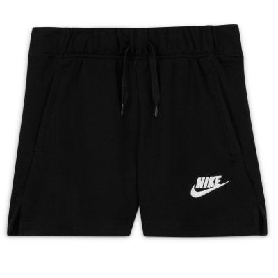 Pantaloni scurti Nike Sportswear Club Big () French Terry pentru fete pentru Copii negru alb