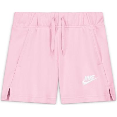 Pantaloni scurti Nike Sportswear Club Big () French Terry pentru fete pentru Copii roz foam alb