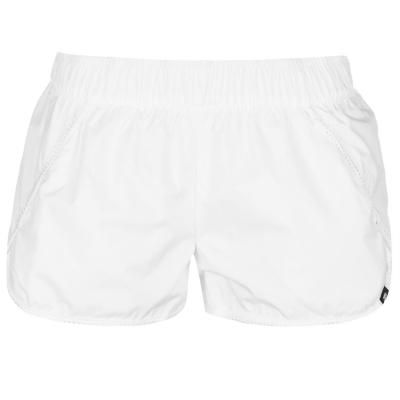 Pantaloni scurti Nike Swoosh Mesh pentru Femei alb negru
