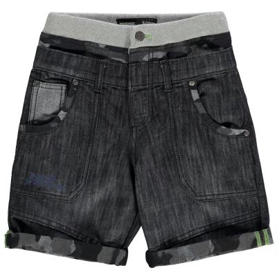 Pantaloni scurti No Fear Double Waisted pentru baietei inchis wash