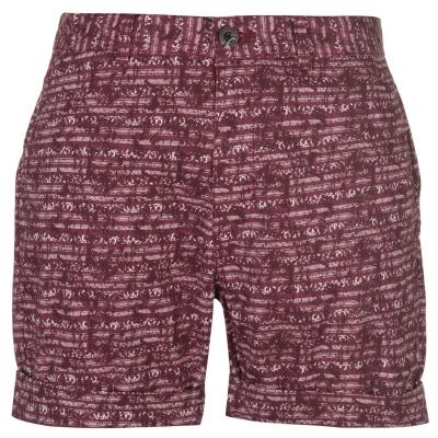 Pantaloni scurti Pierre Cardin Aztec pentru Barbati rosu burgundy