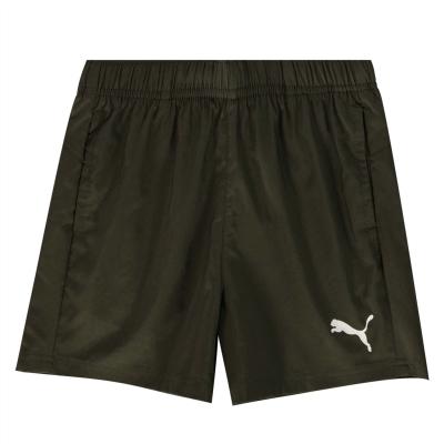 Pantaloni scurti Puma Essential Logo pentru baietei verde bleumarin