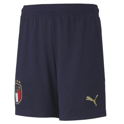 Pantaloni scurti Puma Italy Acasa 2020 pentru copii albastru auriu