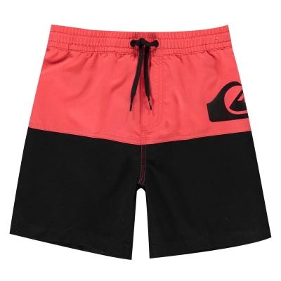 Pantaloni scurti Quiksilver Colour Block Board pentru baietei rosu negru