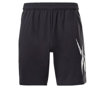 Pantaloni scurti Reebok Workout Ready imprimeu Graphic pentru Barbati negru