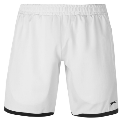 Pantaloni scurti Slazenger Court pentru Barbati alb