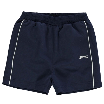 Pantaloni scurti Slazenger Woven pentru Bebelusi bleumarin