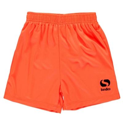 Pantaloni scurti Sondico Core fotbal pentru copii portocaliu fosforescent negru