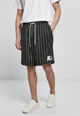 Pantaloni scurti Starter Pinstripe negru