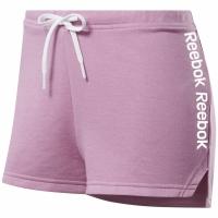 Pantaloni scurti THESE Adidas Linear Logo roz FK6700 pentru femei