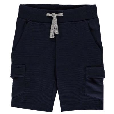 Pantaloni scurti Threadbare Ribbed pentru Bebelusi bleumarin