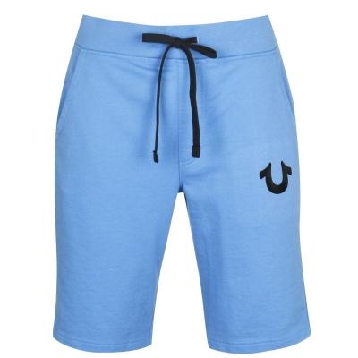 Pantaloni scurti True Religion Blu Logo albastru