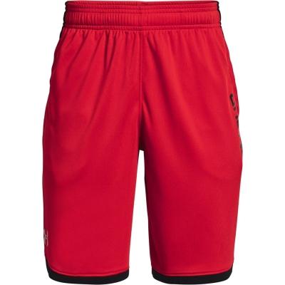 Pantaloni scurti Under Armour Stunt 3.0 pentru Barbati rosu negru