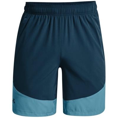 Pantaloni scurti Under Armour Woven Colorblock albastru note