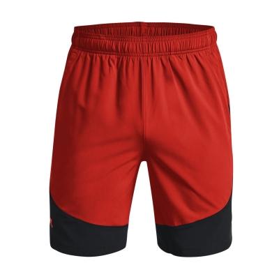 Pantaloni scurti Under Armour Woven Colorblock rosu phoenix